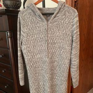 Gray Sweater Hoodie, Maternity